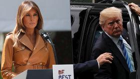 Operace první dámy USA Melanie Trumpové byla úspěšná, prezident ji každý den navštěvuje v nemocnici.