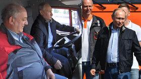 Putin otevřel Krymský most v čele kolony kamionů, při řízení se ale nepřipoutal.