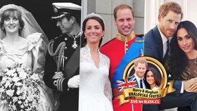 Co se pokazí na svatbě Harryho a Meghan? Diana spletla jméno, William málem usnul!