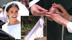 Kolik stála minimalistická svatební róba a doplňky Meghan, nové vévodkyně ze Sussexu?