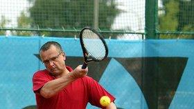 Miroslav Kalousek v roce 2005 na tenise. Kde jinde, než v jihočeské Bechyni