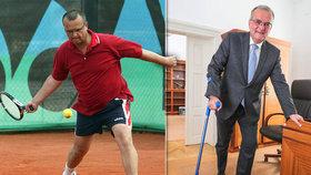 Kalouskovi se stal tenis osudným. Místo rakety teď bude nějakou dobu brát do ruky francouzskou berli.