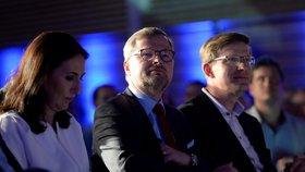 Předseda ODS Petr Fiala na programové konferenci 26. května v Líbeznicích u Prahy