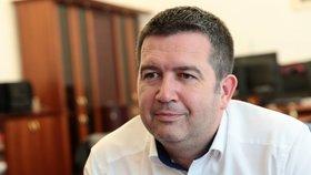 Jan Hamáček (ČSSD) během rozhovoru pro Blesk