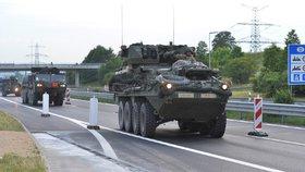 První vozy amerického vojenského konvoje vjely na území ČR 29. května 2018 přes Rozvadov