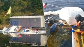 Na Orlické přehradě se potopila záchranářská loď!