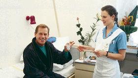 Václav Havel v době, kdy se v nemocnice chystal zapít prášky.