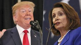 Trump označil sněmovní šéfku demokratů za milovnici gangu MS-13.