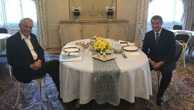 Prezident Miloš Zeman pohostil premiéra v demisi Andreje Babiše ve čtvrtek 31. 5. 2018 obědem. Řešili především termín Babišova opětovného jmenování premiérem