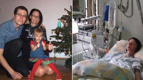 Silvie, maminka tříleté holčičky, trpí vzácnou nemocí.