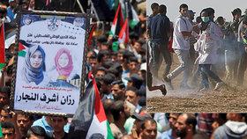 21letá zdravotní sestřička a dobrovolnice přišla o život při palestinských protestech