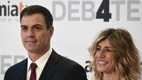 Španělský premiér Pedro Sánchez a jeho manželka Begoña Gómez