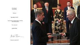 Andrej Babiš bude od 6. 6. znovu premiérem. Prezident Miloš Zeman ho jmenoval poprvé přesně před půl rokem.