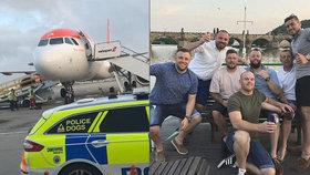 Kvůli chování turistů se vrátil do Bristolu letoun mířící do ČR.