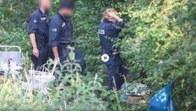 Na místě vraždy dívky ve Wiesbadenu