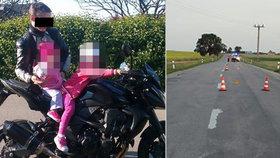 Táta dvou malých holčiček se zabil na motorce, podle policie nezvládl předjíždění.
