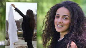 Íránská aktivistka a novinářka Masih Alinedžadová (41) inspirovala miliony žen, aby na protest proti zahalování sundaly své šátky.