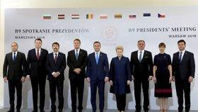 Summit devíti hlav států střední a východní Evropy ve Varšavě (8. 6. 2018). Prezidenta Zemana zastoupil předseda Sněmovny Radek Vondráček.