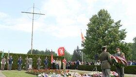 76 let od vypálení Lidic. Ceremoniálu se zúčastnily desítky hostů