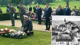 V Lidicích si 10. června připomněli 76. výročí od tragických událostí, kdy nacisté obec vypálili, ženy a děti odvezli do koncentračních táborů a muže postříleli.