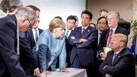 Druhý den summitu G7 v Kanadě, 10.6.2018: Trump stáhl podporu závěrečného usnesení a předčasně odešel.