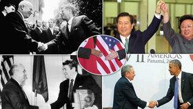 Historické summity znesvářených politiků. Tím posledním je schůzka mezi americkým prezidentem Donaldem Trumpem a severokorejským vůdcem Kim Čong-unem