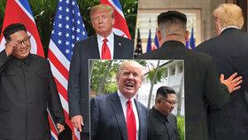 Co prozradila řeč těla Donalda Trumpa a Kim Čong-una?