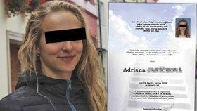 Všem ses nám vtiskla do srdcí: Smutná vzpomínka hasičů na zesnulou kolegyni Adrianu (†22)
