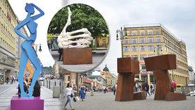 V centru vyrostly sochy. Může za to festival Sculpture Line