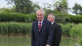 Miloš Zeman svolal mimořádný brífink, aby spálil červené trenky, které v roce 2015 skupina Ztohoven vyvěsila v roce 2015 nad Pražským hradem místo prezidentské standarty.