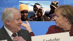 Merkelová a Seehofer ve sporu o migranty
