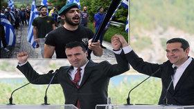 Řekové a Makedonci podepsali dohodu o názvu makedonského státu