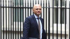 Britský ministr vnitra Sajid Javid