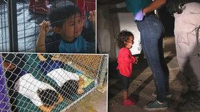 Děti odebrané migrantům na americko-mexické hranici za mřížemi trpí.