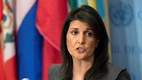 Americká velvyslankyně v OSN Nikki Haleyová
