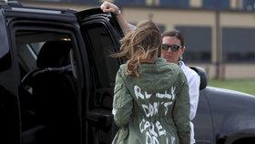 Melania Trump proti rozdělování dětí: Odjela do McAllenu v Texasu na hranicích s Mexikem, aby se se situací přímo na místě seznámila.