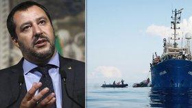 Salvini žádá Malta o přijetí lodi Lifeline. K italským břehům ji nepustí