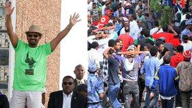 Premiéra Etiopie podpořila mohutná demonstrace, granát tu zranil přes 80 lidí