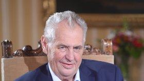 Prezident Miloš Zeman v pořadu Blesk.cz S prezidentem v Lánech