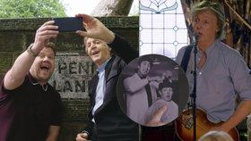 Britský showman vzal Paula McCartneyho (76) na emotivní projížďku do míst, kde vyrůstal.