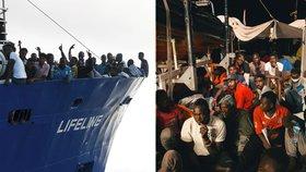 Loď Lifeline s 230 migranty nakonec zakotví na Maltě.