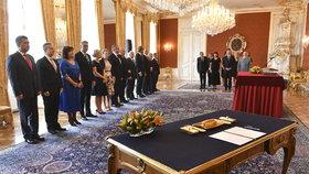Prezident Miloš Zeman jmenoval vládu premiéra Andreje Babiše (ANO) (27.6. 2018)