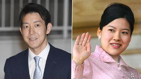 Japonská princezna Ayako kvůli svatbě s neurozeným Keiem Moriyou přijde o titul.