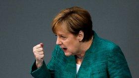 Kancléřka Merkelová při projevu v Budestagu 28.6.2018