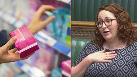 Labouristka Danielle Rowleyová v Dolní sněmovně otevřela otázku menstruační chudoby.