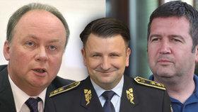 Předseda ČSSD Hamáček, policejní prezident Tuhý a šéf NCOZ Mazánek