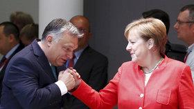 Německá kancléřka Angela Merkelová s maďarským premiérem Viktorem Orbánem.