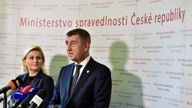 Andrej Babiš uvedl ministryni spravedlnosti Taťánu Malou do funkce (29.6.2018)