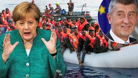 O způsobu vracení migrantů se vedou spory, Babiš má jiný názor než Merkelová.