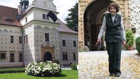 Na zámku v Doudlebech smutní. Zemřela hraběnka Eleonora Dujková (†89)